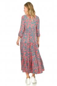 Genesis |  Printed maxi dress Naga | red  | Picture 5