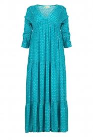 Genesis |  Printed maxi dress Zaga | blue  | Picture 1