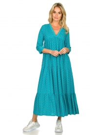 Genesis :  Printed maxi dress Zaga | blue - img3