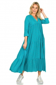 Genesis :  Printed maxi dress Zaga | blue - img2