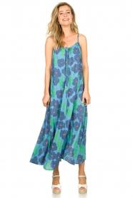 Genesis |  Sleeveless maxi dress Dali | blue  | Picture 3