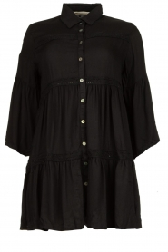 Genesis |  Buttoned crepe dress Fuji | black  | Picture 1