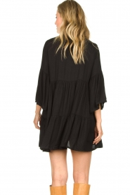 Genesis |  Buttoned crepe dress Fuji | black  | Picture 6