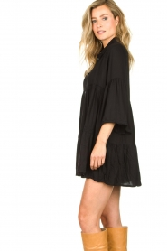 Genesis |  Buttoned crepe dress Fuji | black  | Picture 5