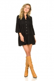 Genesis |  Buttoned crepe dress Fuji | black  | Picture 3