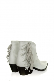 Janet & Janet |  Leather fringe ankle boots Clizia | white  | Picture 4