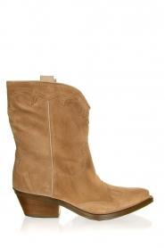 Janet & Janet |  Suede cowboy boots Vesta | beige  | Picture 1