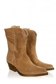 Janet & Janet |  Suede cowboy boots Vesta | beige  | Picture 3
