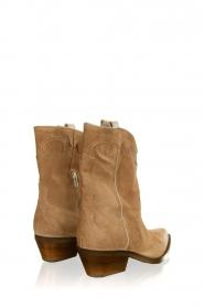Janet & Janet |  Suede cowboy boots Vesta | beige  | Picture 4