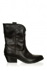 Janet & Janet |  Leather cowboy boots Atena | black  | Picture 1