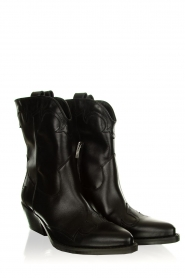 Janet & Janet |  Leather cowboy boots Atena | black  | Picture 3