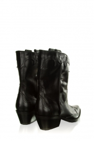 Janet & Janet |  Leather cowboy boots Atena | black  | Picture 4