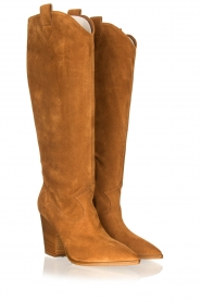 Janet & Janet |  Suede boots Cioio | camel  | Picture 3