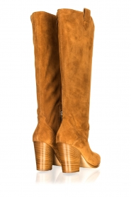 Janet & Janet |  Suede boots Cioio | camel  | Picture 4