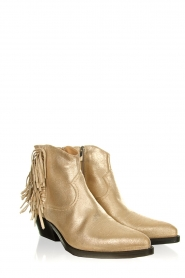 Janet & Janet |  Leather fringe ankle boots Nemesi | gold  | Picture 3