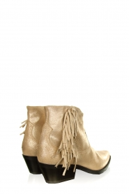 Janet & Janet |  Leather fringe ankle boots Nemesi | gold  | Picture 4