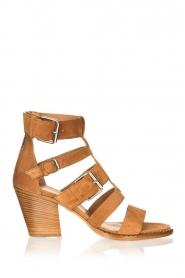 Janet & Janet |  Suede buckle sandals Roccia | camel  | Picture 1