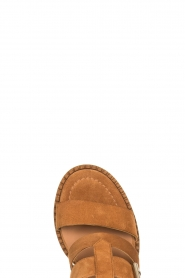 Janet & Janet |  Suede buckle sandals Roccia | camel  | Picture 5