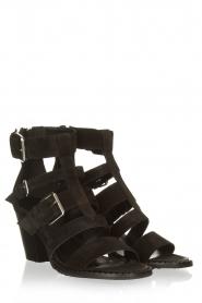 Janet & Janet |  Suede buckle sandals Roccia | black  | Picture 3
