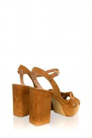 Janet & Janet |  Suede platform sandals Ermes | camel  | Picture 4
