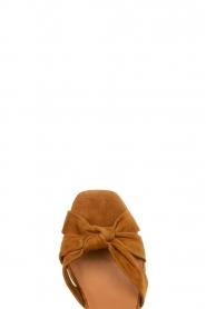 Janet & Janet |  Suede platform sandals Ermes | camel  | Picture 5