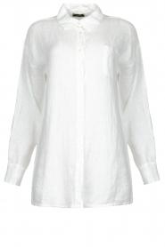 Fracomina |  Linen blouse Mina | white  | Picture 1