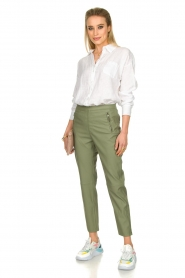 Fracomina |  Linen blouse Mina | white  | Picture 3