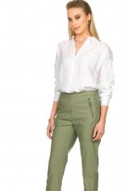 Fracomina |  Linen blouse Mina | white  | Picture 5