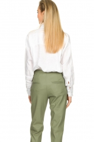 Fracomina |  Linen blouse Mina | white  | Picture 6