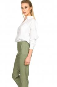 Fracomina |  Linen blouse Mina | white  | Picture 4