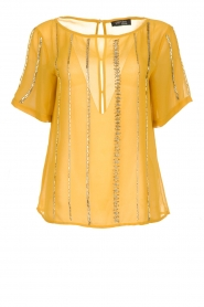Fracomina |  Luxe top Leila | yellow  | Picture 1