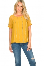 Fracomina |  Luxe top Leila | yellow  | Picture 2