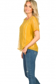 Fracomina |  Luxe top Leila | yellow  | Picture 5
