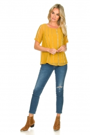 Fracomina |  Luxe top Leila | yellow  | Picture 3