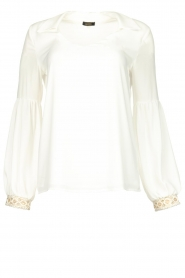 Fracomina |  Luxe top Antique | white  | Picture 1