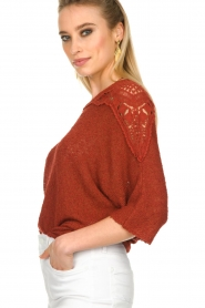 Fracomina |  Sweater with lace details Mina | red  | Picture 7