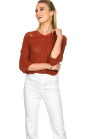 Fracomina |  Sweater with lace details Mina | red  | Picture 5