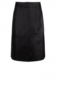 Dante 6 |  Leather skirt Pulson | black  | Picture 1