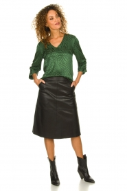 Dante 6 |  Leather skirt Pulson | black  | Picture 3