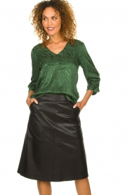 Dante 6 |  Leather skirt Pulson | black  | Picture 2