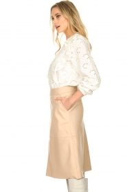 Dante 6 |  Leather skirt Pulson | naturel   | Picture 5