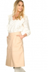 Dante 6 |  Leather skirt Pulson | naturel   | Picture 2