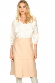 Dante 6 |  Leather skirt Pulson | naturel   | Picture 4