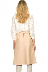 Dante 6 |  Leather skirt Pulson | naturel   | Picture 6
