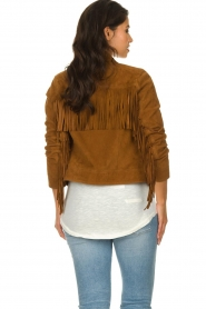 Dante 6 |  Suede fringe jacket Dallan | brown  | Picture 5