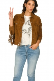 Dante 6 |  Suede fringe jacket Dallan | brown  | Picture 2