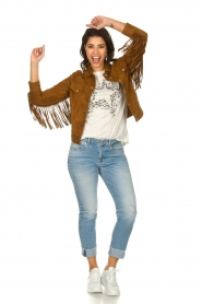 Dante 6 |  Suede fringe jacket Dallan | brown  | Picture 3