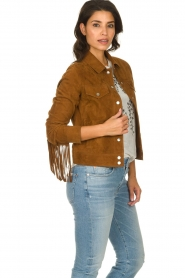 Dante 6 |  Suede fringe jacket Dallan | brown  | Picture 4