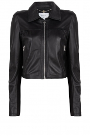 Dante 6 |  Leather cropped jacket Leavitt | black  | Picture 1