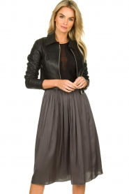 Dante 6 |  Leather cropped jacket | black  | Picture 2